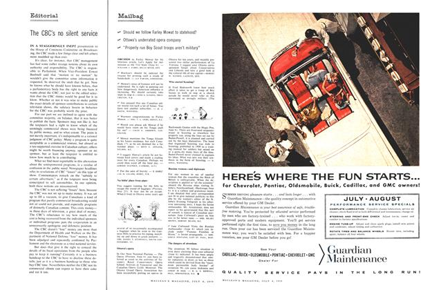 Article Preview: Mailbag, July 1959 | Maclean's