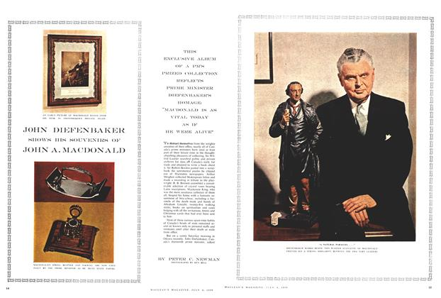 Article Preview: JOHN DIEFENBAKER SHOWS HIS SOUVENIRS OF JOHN A. MACDONALD, July 1959 | Maclean's