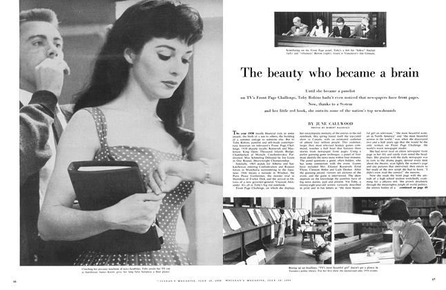 Article Preview: The beauty who became a brain, July 1959 | Maclean's