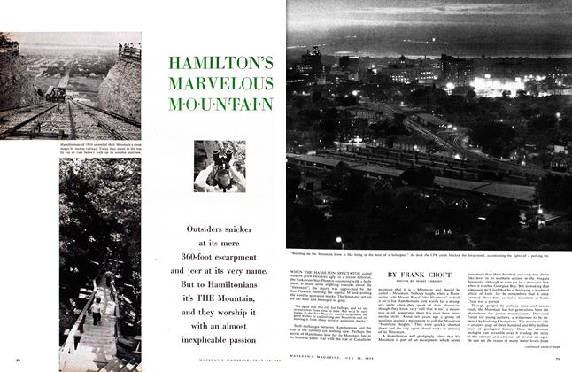 Article Preview: HAMILTON'S MARVELOUS MOUNTAIN, July 1959 | Maclean's