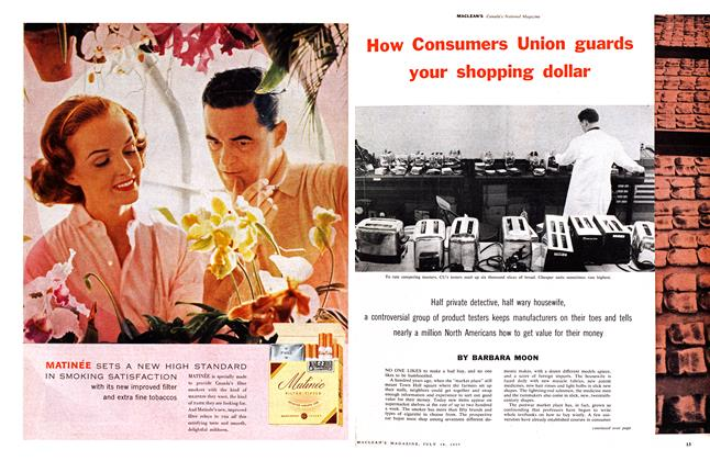 Article Preview: How Consumers Union guards your shopping dollar, July 1959 | Maclean's