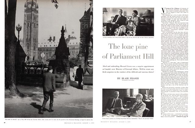 Article Preview: The lone pine of Parliament Hill, August 1959 | Maclean's
