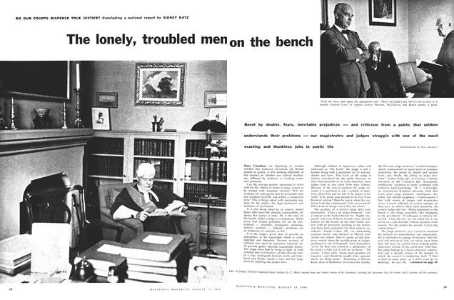Article Preview: The lonely, troubled men On the bench, August 1959 | Maclean's