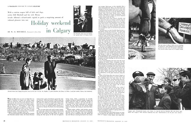 Article Preview: Holiday weekend in Calgary, August 1959 | Maclean's