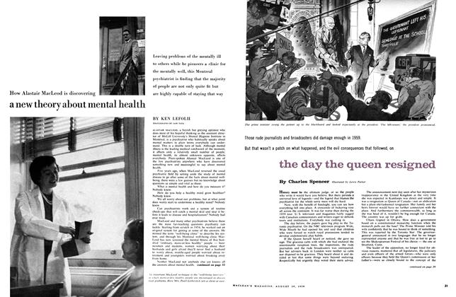 Article Preview: How Alastair MacLeod is discovering a new theory about mental health, August 1959 | Maclean's