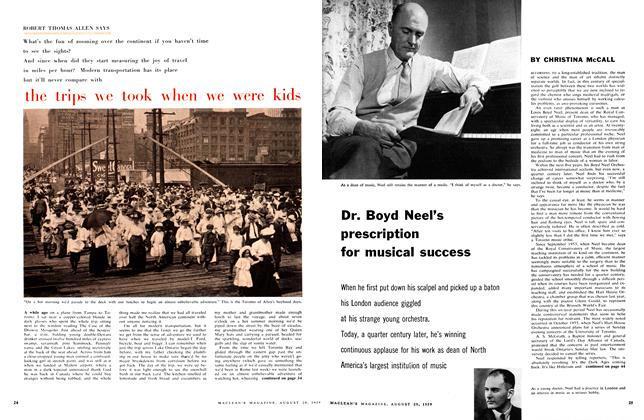 Article Preview: Dr. Boyd Neel's prescription for musical success, August 1959 | Maclean's