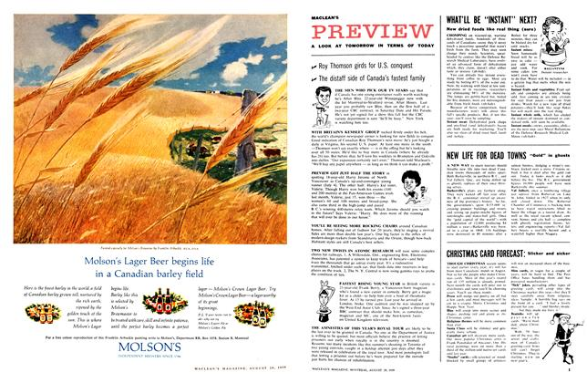 Article Preview: A LOOK AT TOMORROW IN TERMS OF TODAY, August 1959   Maclean's