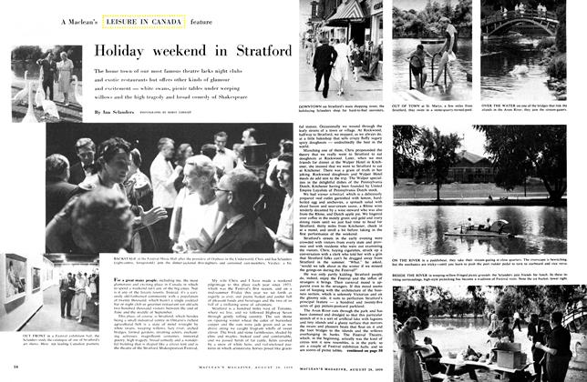 Article Preview: Holiday weekend in Stratford, August 1959 | Maclean's