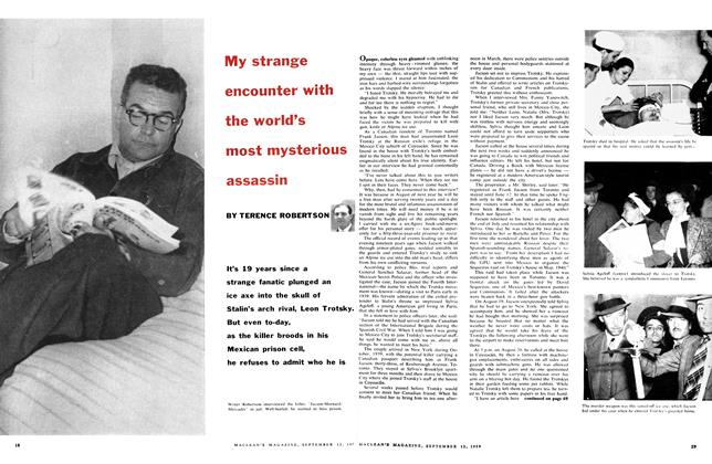 Article Preview: My strange encounter with the world's most mysterious assassin, September 1959 | Maclean's