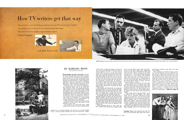 Article Preview: How TV writers get that way, September 1959   Maclean's