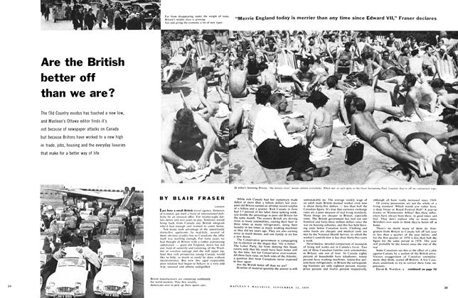 Article Preview: Are the British better off than we are?, September 1959 | Maclean's