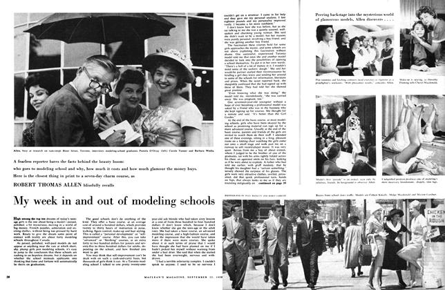 Article Preview: My week in and out of modeling schools, September 1959 | Maclean's