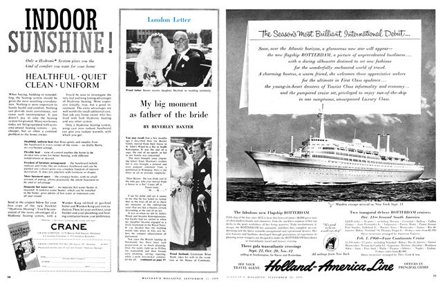 Article Preview: My big moment as father of the bride, September 1959 | Maclean's