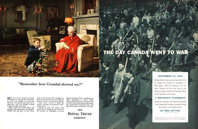 Article Preview: THE DAY CANADA WENT TO WAR, September 1959   Maclean's