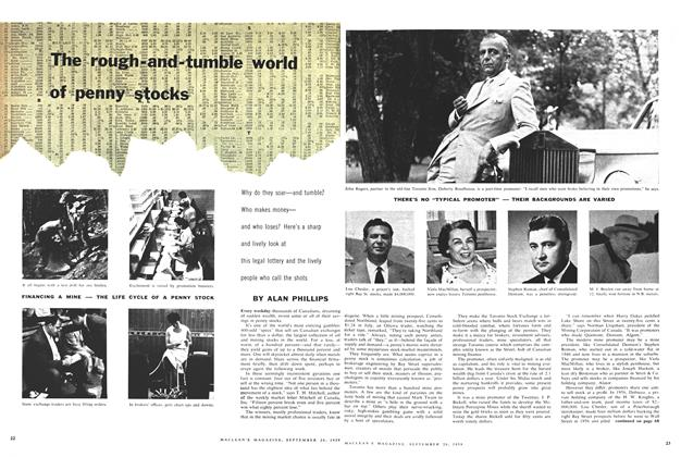 Article Preview: The rough-and-tumble world of penny stocks, September 1959 | Maclean's