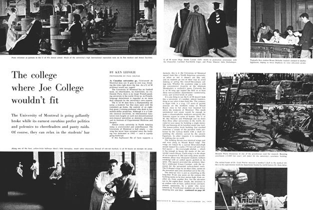 Article Preview: The college where Joe College wouldn't fit, September 1959 | Maclean's