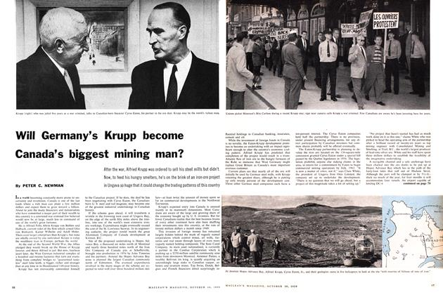 Article Preview: Will Germany's Krupp become Canada's biggest mining man?, October 1959 | Maclean's