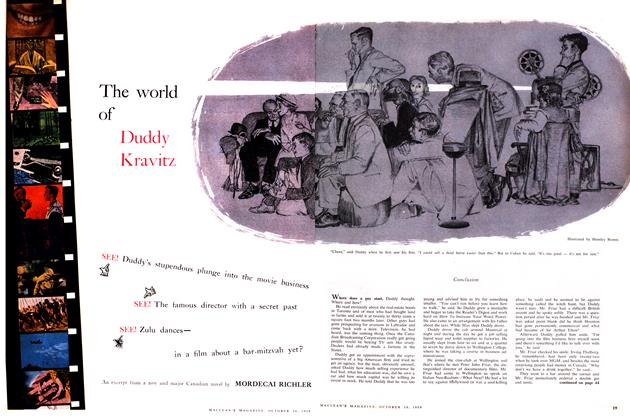 Article Preview: The world of Duddy Kravitz, October 1959 | Maclean's