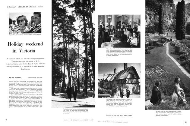Article Preview: Holiday weekend in Victoria, October 1959 | Maclean's