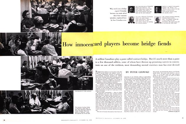 Article Preview: How innocent card players become bridge fiends, October 1959 | Maclean's