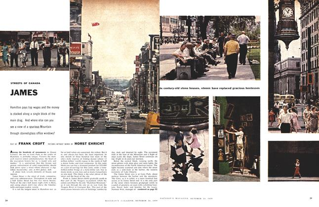 Article Preview: STREETS OF CANADA JAMES, October 24 1959 | Maclean's
