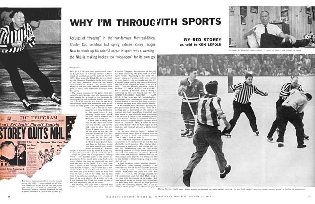 Article Preview: WHY I'M THROUGH WITH SPORTS, October 24 1959 | Maclean's