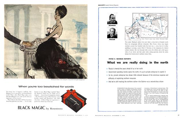 Article Preview: What we are really doing in the north, November 1959 | Maclean's