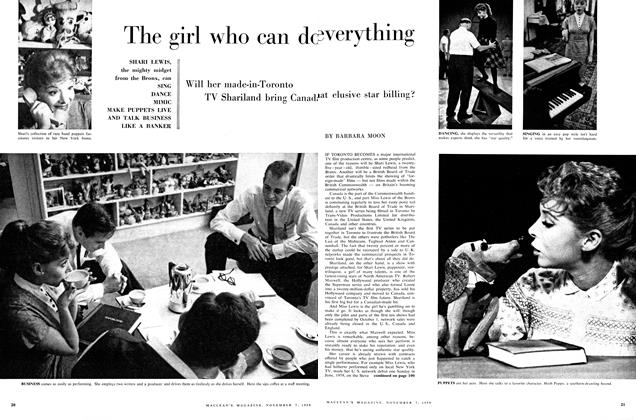 Article Preview: The girl who everything can do, November 1959 | Maclean's
