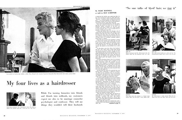 Article Preview: My four lives as a hairdresser, November 1959 | Maclean's