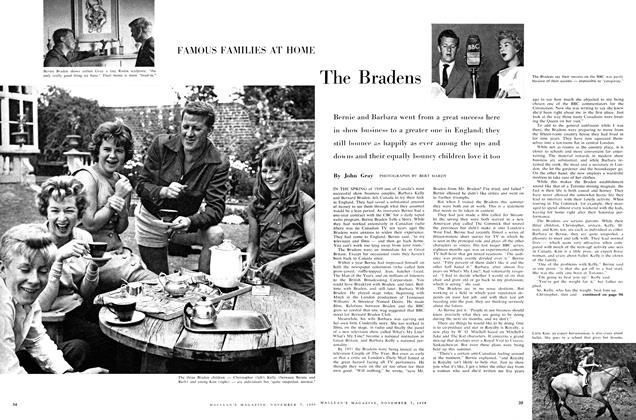 Article Preview: FAMOUS FAMILIES AT HOME: The Bradens, November 1959 | Maclean's