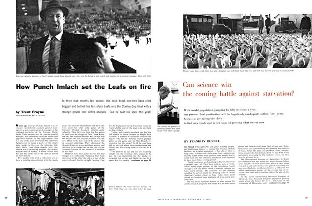 Article Preview: How Punch Imlach set the Leafs on fire, November 1959 | Maclean's