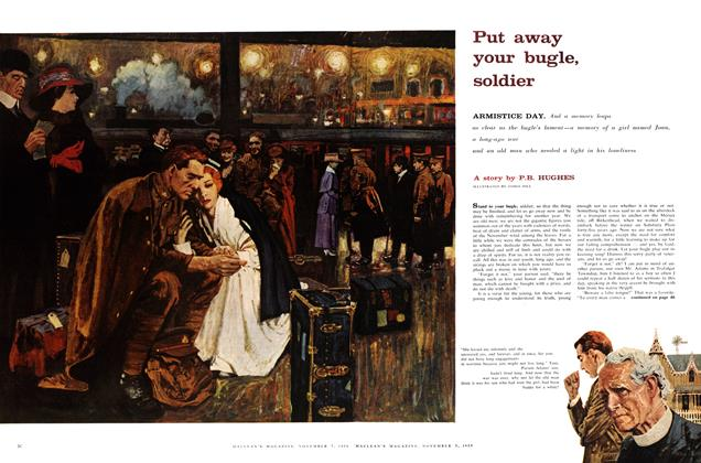 Article Preview: Put away your bugle, soldier, November 1959 | Maclean's