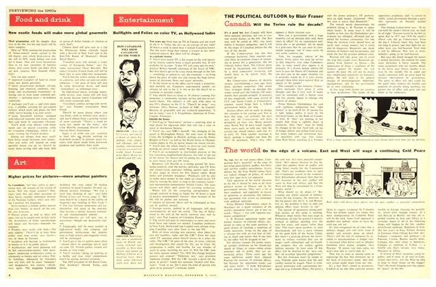 Article Preview: Food and drink, November 1959 | Maclean's