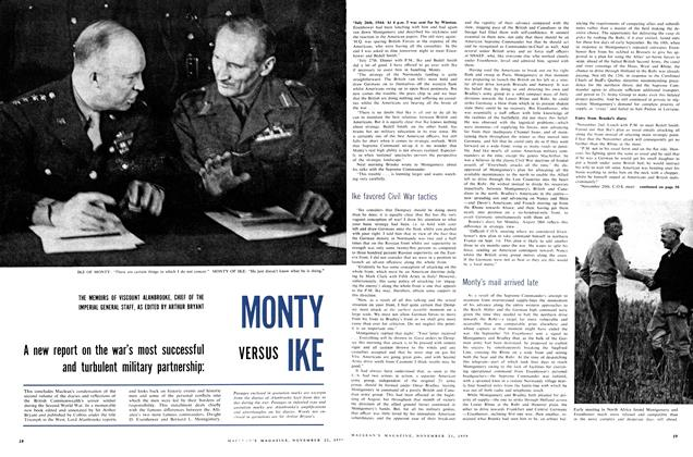 Article Preview: MONTY VERSUS IKE, November 1959 | Maclean's