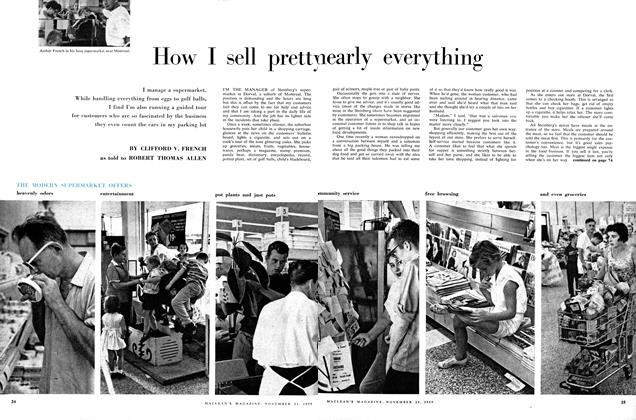Article Preview: How I sell pretty nearly everything, November 1959 | Maclean's