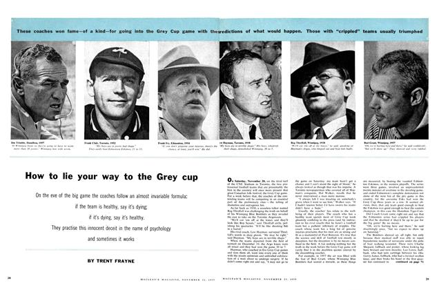 Article Preview: How to lie your way to the Grey cup, November 1959 | Maclean's