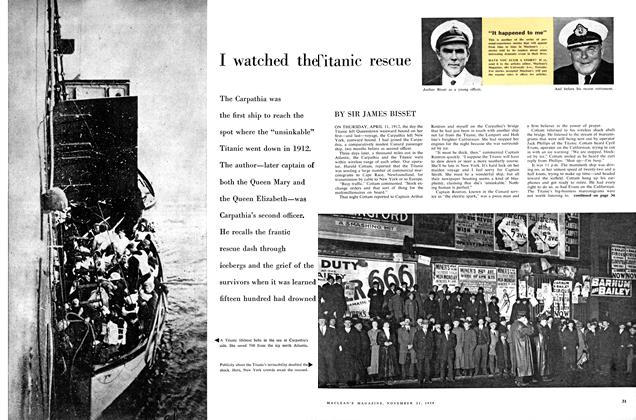 Article Preview: I watched the Titanic rescue, November 1959 | Maclean's