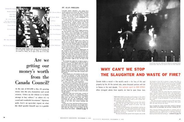 Article Preview: Are we getting our money's worth from the Canada Council?, December 1959 | Maclean's