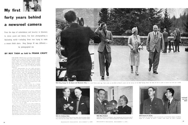 Article Preview: My first forty years behind a newsreel camera, December 1959 | Maclean's