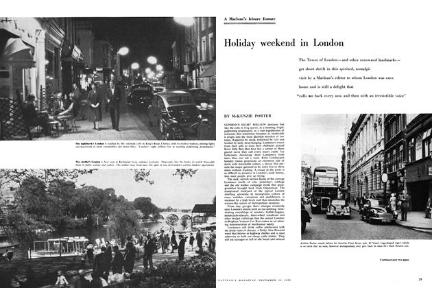 Article Preview: Holiday weekend in London, December 1959 | Maclean's