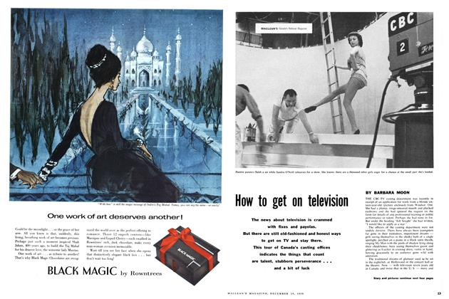 Article Preview: How to get on television, December 1959 | Maclean's