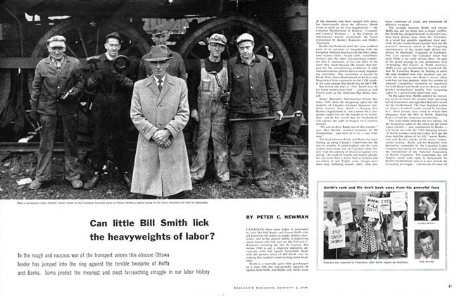 Article Preview: Can little Bill Smith lick the heavyweights of labor?, January 1960 | Maclean's