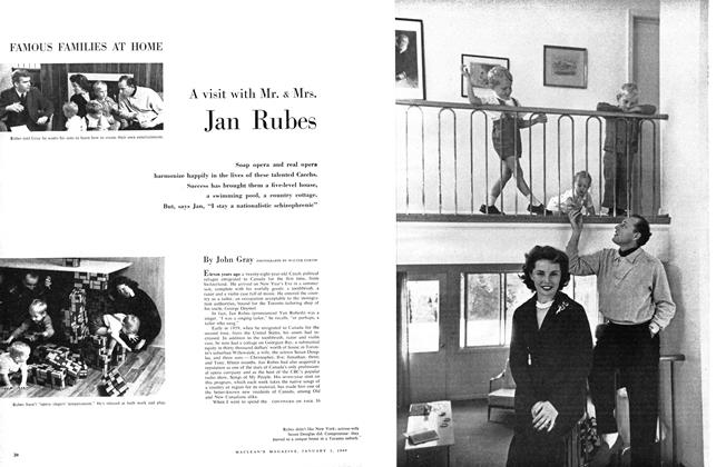 Article Preview: A visit with Mr. & Mrs. Jan Rubes, January 1960 | Maclean's