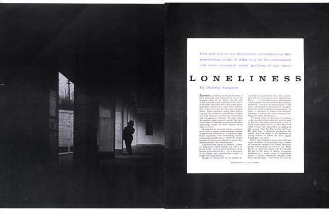 Article Preview: LONELINESS, January 1960 | Maclean's