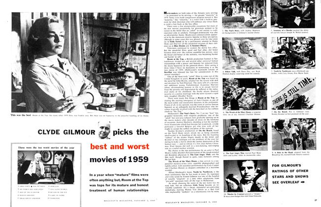 Article Preview: CLYDE GILMOUR picks the best and worst movies of 1959, January 1960 | Maclean's