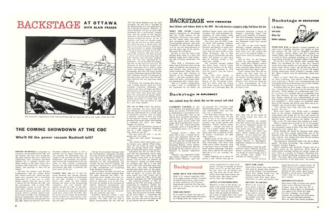 Article Preview: THE COMING SHOWDOWN AT THE CBC, January 1960 | Maclean's