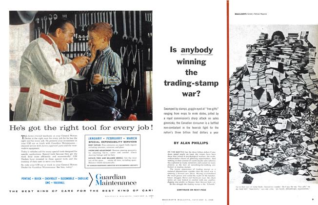 Article Preview: Is anybody winning the trading-stamp war?, January 1960 | Maclean's