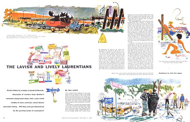 Article Preview: THE LAVISH AND LIVELY LAURENTIANS, January 1960 | Maclean's
