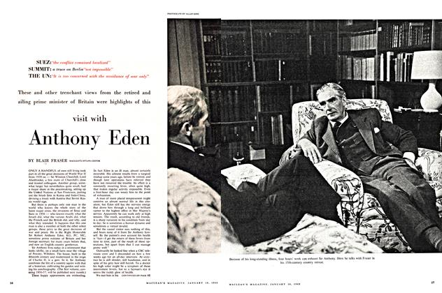 Article Preview: visit with Anthony Eden, January 1960 | Maclean's