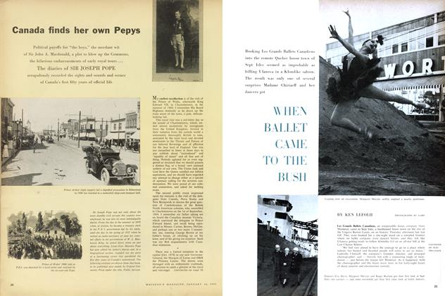 Article Preview: WHEN BALLET GAME TO THE BUSH, January 1960 | Maclean's